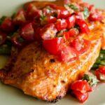 طرز تهیه ماهی با گوجه فرنگی کبابی