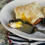 طرز تهیه صبحانه قارچ و گوشت با تخم مرغ