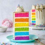 طرز تهیه کیک رنگین کمانی