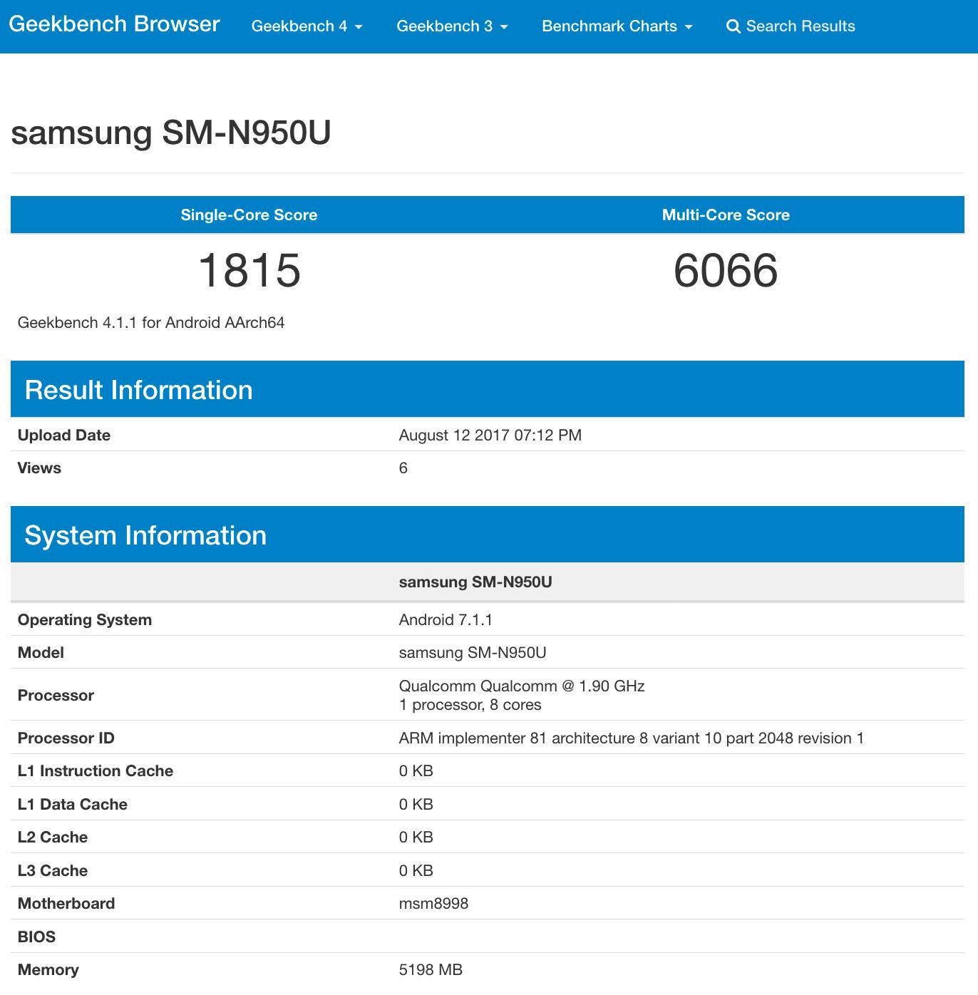 بنچمارک مدل اسنپدراگون نوت ۸