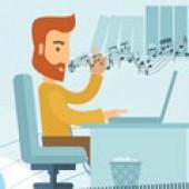 اینفوگرافی؛ تاثیر موسیقی در افزایش بازدهی در محل کار – موفقیت