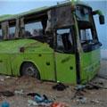 اتوبوس «اسکانیا» با گاردریل بدون تلفات حوادث - برخورد اتوبوس «اسکانیا» با گاردریل بدون تلفات - حوادث
