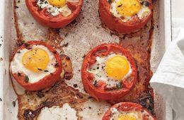 طرز تهیه نیمرو داخل گوجه فرنگی – آشپزی
