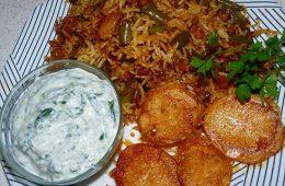 لوبیا پلو را با مرغ بپزید! – آشپزی