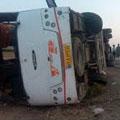 واژگونی اتوبوس ۱۲ مصدوم بر جای گذاشت – حوادث