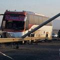 ۶۱ مصدوم در پی تصادف مینی بوس و اتوبوس – حوادث