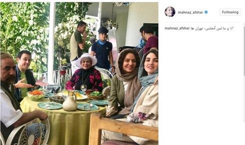 عکسی که مهناز افشار با نام «ما لس آنجلس تهرانیها» منتشر کرد! – گوناگون