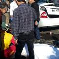 مرگ راننده تیبا بر اثر تصادف با کرکره مغازه – حوادث