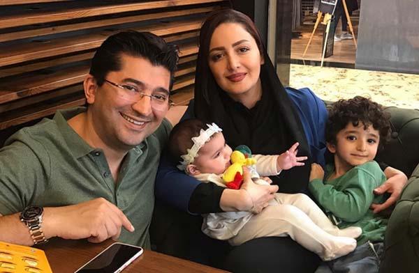 شیلا خدادا و همسرش و فرزندانش