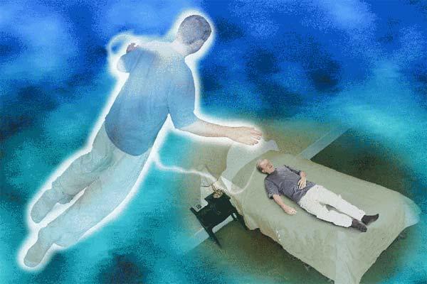 برون فکنی ، برونفکنی اثیری ، عکس جدا شدن روح از بدن