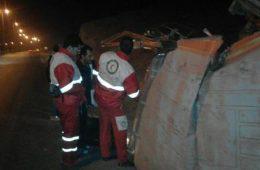 واژگونی مینی بوس زائران اربعین در کرمانشاه/ ۱۴ تن مصدوم شدند (+عکس)-حوادث