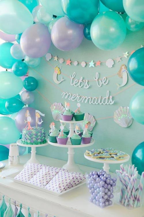 عکس مدل تزئینات و تم تولد پسرانه آبی