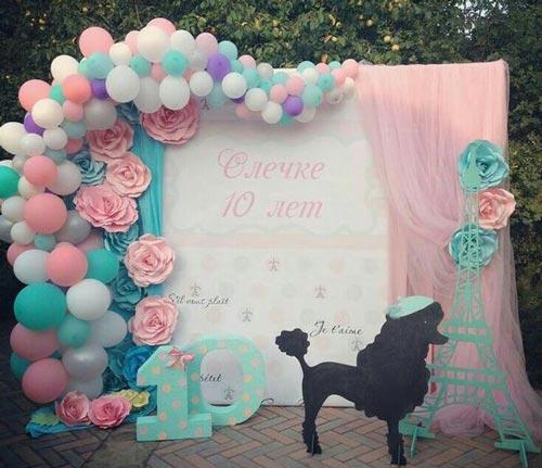عکس مدل تزئینات و تم تولد دخترانه