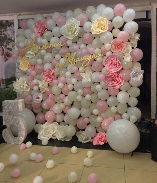 عکس مدل تزئینات بادکنکی بک گراند تولد
