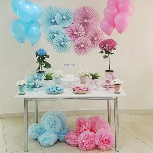 عکس مدل تزئینات و تم تولد دخترانه صورتی و آبی
