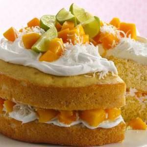 طرز پخت کیک انبه خوشمزه