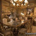 میز غذاخوری سلطنتی و لوکس