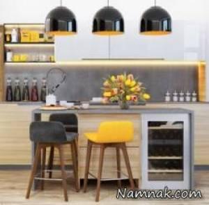 استفاده از نور مخفی آشپزخانه های امروزی