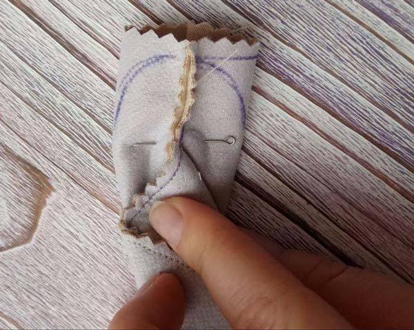 عکس روش دوخت عروسک روسی- دوخت پا