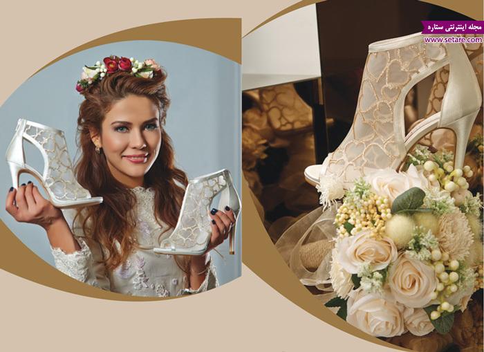 کفش عروس - مدل کفش عروس - عکس کفش - مدل لباس عروس - کفش عروس پاشنه باریک