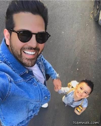 عماد طالب زاده و پسرش