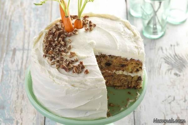 کیک هویج با فراستینگ
