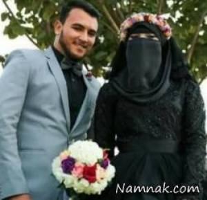 عروس وداماد مصری با لباس سیاه