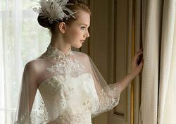 مدل شنل عروس آستین دار۲۰۱۸