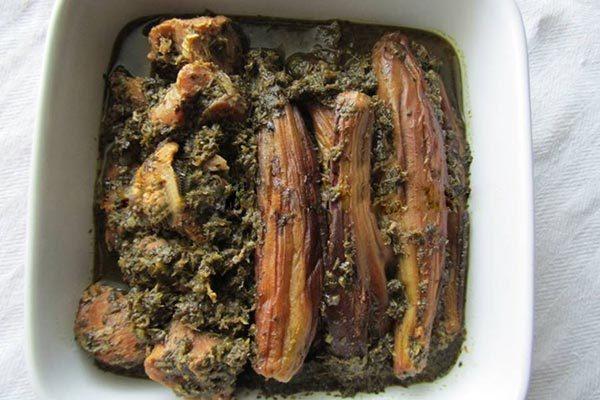 خورش نازخاتون گیلانی با مرغ