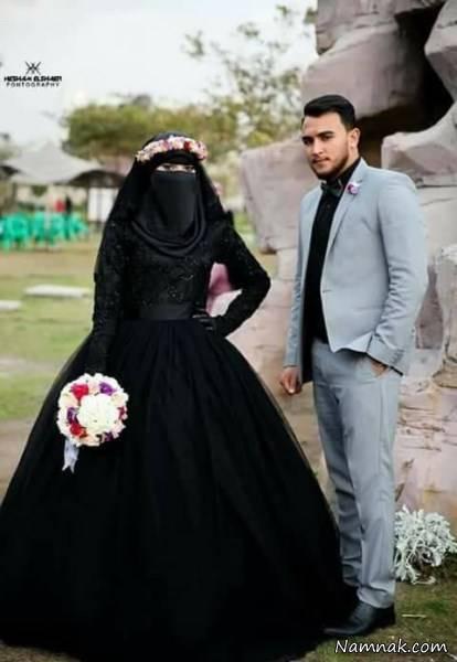 لباس عروس مشکی