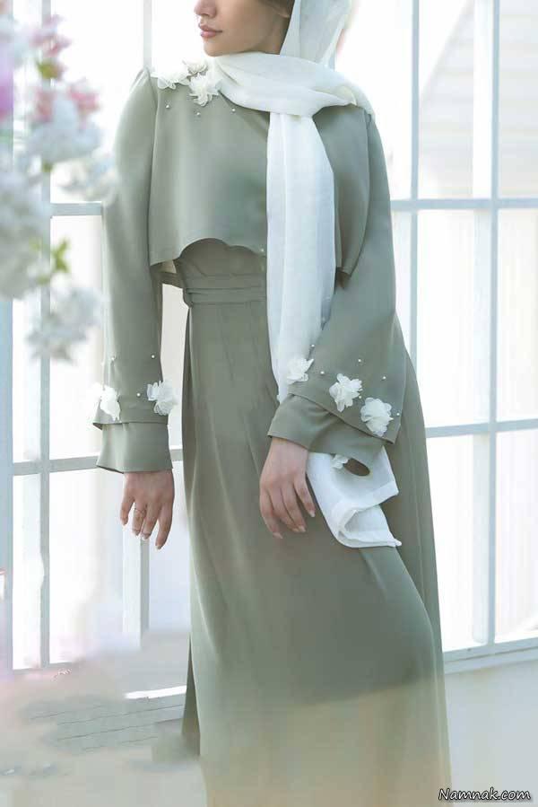 مدل مانتو جدید بلند چاک دار دخترانه