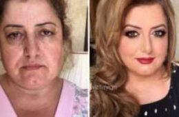عکسهای دیدنی از قبل و بعد آرایش برای اثبات معجزه آرایش