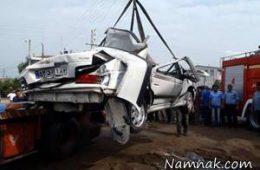 تصادف شدید کامیون و پراید در جاده مسجد سلیمان – اندیکا