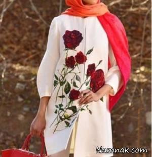 مدل مانتو گلدوزی شده زیبای سال 97