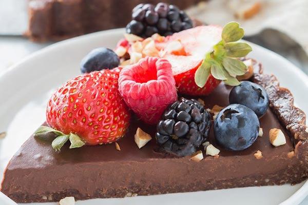 تارت شکلاتی بدون خامه