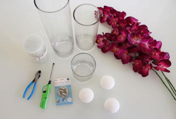 عکس تزیین شمع با گلهای بهاری