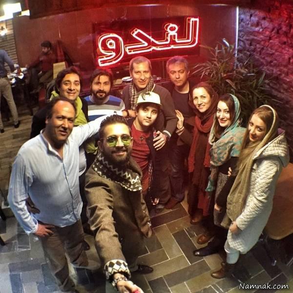 هنرمندان در رستوران محمدرضا هدایتی