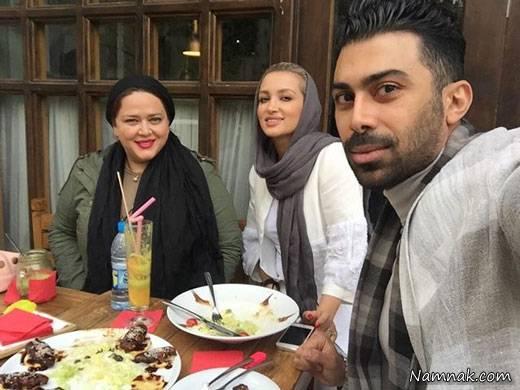 روناک یونسی و همسرش و بهاره رهنما