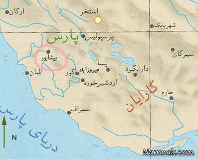 نقشه بیشاپور