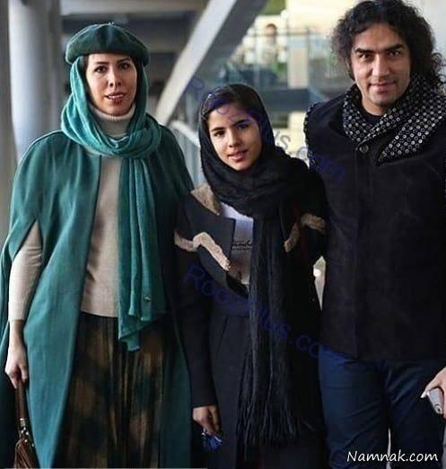 رضا یزدانی و همسر و دخترش