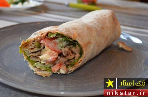 دستور تهیه شاورما لبنانی با مرغ