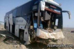 تصادف شدید اتوبوس و خاور در آزاد راه تهران