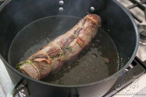 تهیه رولت گوشت مجلسی