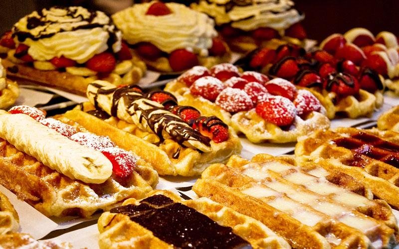 وافل بلژیکی (Belgian waffle) – بلژیک