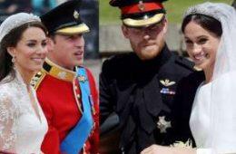 تفاوت های جالب عروسی مگان و هری با کیت و ویلیام