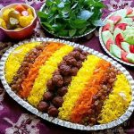 دستور پخت غذای محلی خراسانی ساطری پلو