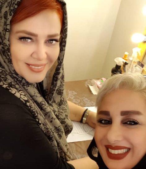 عکس جدید بهاره رهنما و طراح لباس عروسی اش
