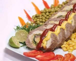 نحوه پخت رولت دورنگ با گوشت و مرغ