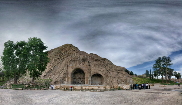 طاق بستان اثر تاریخی و فوق العاده زیبا در دوره ساسانیان درشهر کرمانشاه