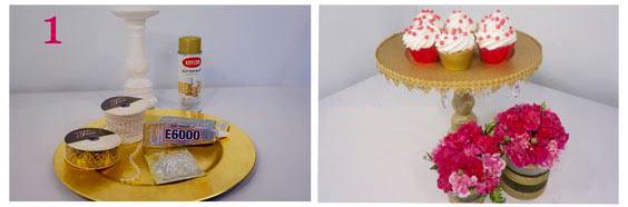 عکس درست کردن ظرف شیرینی خوری تزیینی